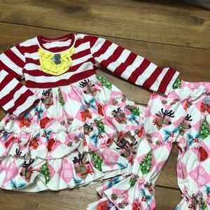 Beautiful Boutique Christmas set for 2-3 years old